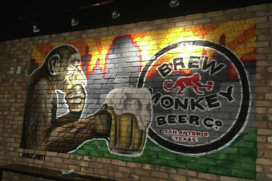 Brew Monkey Beer Co. has artwork throughout the tasting room that has been acquired through local artists.
