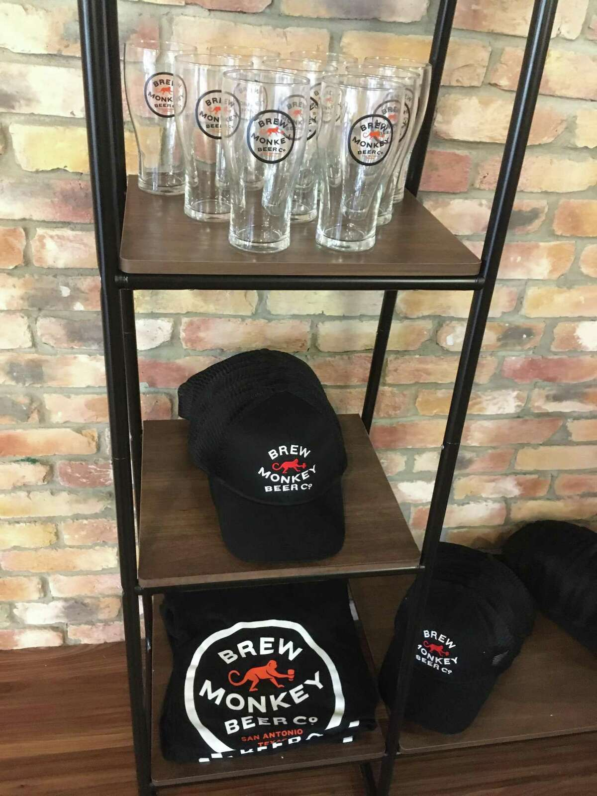 Brew Monkey Beer Co. has a lineup of shirts, glasses, hats and koozies that will be available for sale once it opens Aug. 29.