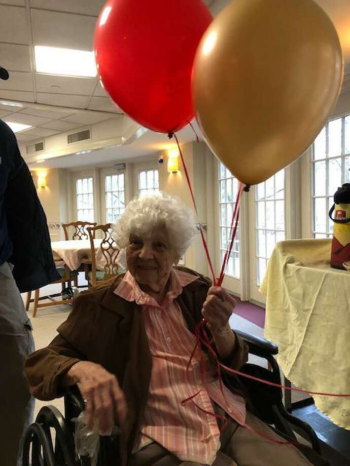 Anita Murphy, a resident of Whitney Rehabilitation Care Center in Hamden, celebrated her 108th birthday on Feb. 6, 2020 with by her family and friends. Photo: Whitney Rehabilitation / Contributed Photos