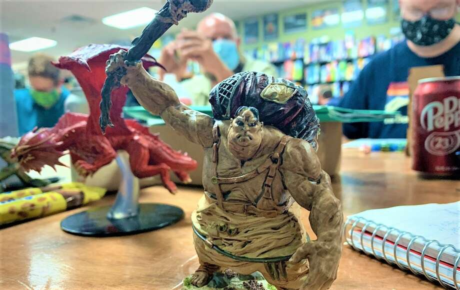 Ettin Games, a tabletop and board game store off FM 1960 in Humble, is open for business and hosting D&D groups like Odium Propius for dungeon campaigns and other tabletop games despite an ongoing pandemic. Photo: Brandon Clements