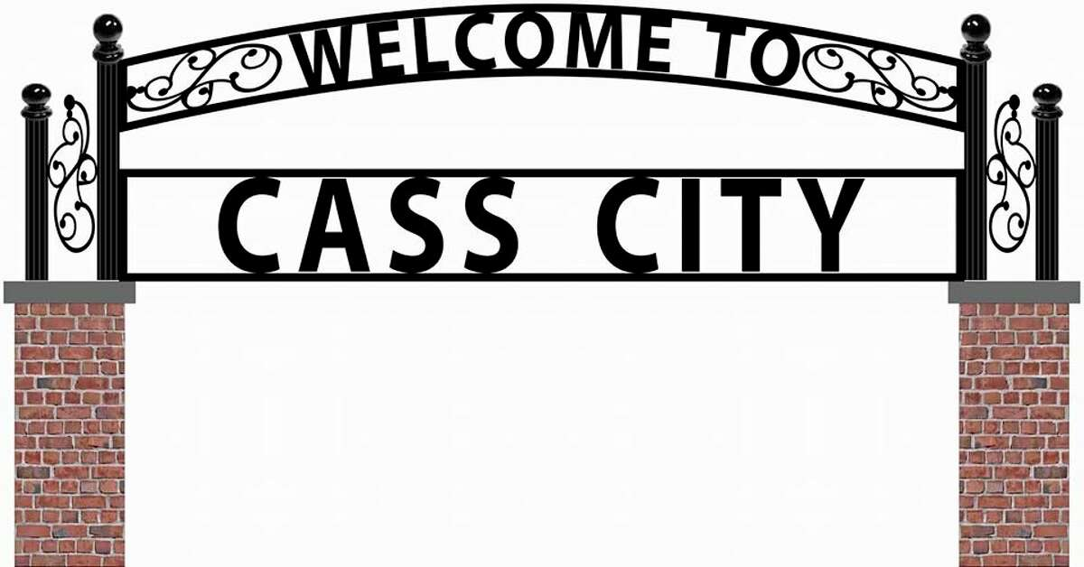 A sign like this at the east and west end of Cass City on M-81 is replacing the old dilapidated ones that were ready to fall over. New welcome signs like this were a dream of the chamber of commerce. (Courtesy Photo)