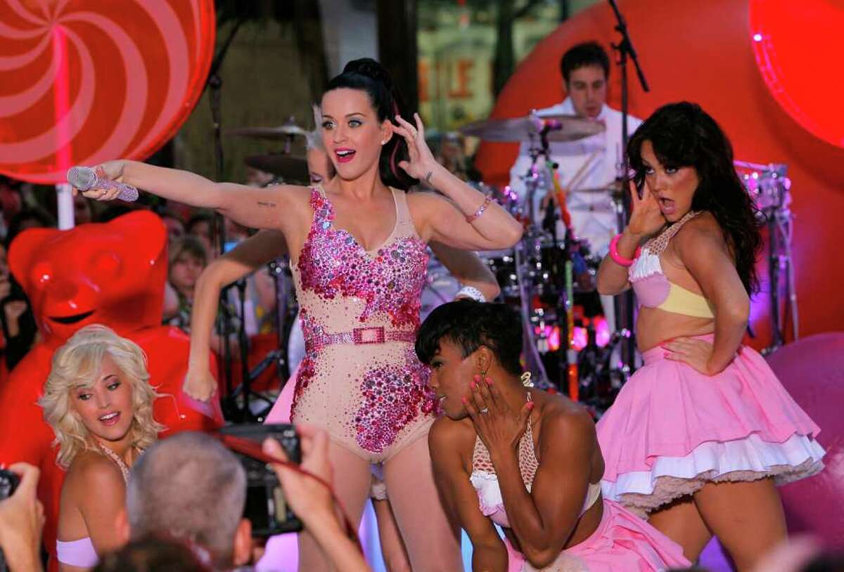 Singer Katy Perry performs on NBC's