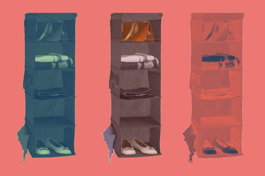 Simple Houseware 5 Shelves Hanging Closet Organizer, $12.87 on Amazon Photo: Amazon/Hearst Newspapers
