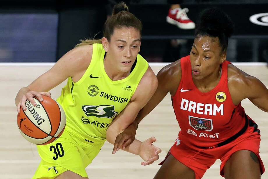 With their 107-95 victory over the Dallas Wings Wednesday night, the Storm secured a top-two seed in the postseason. This means they'll start their quest for a fourth league championship in the WNBA semifinals. Photo: Chris O'Meara / Associated Press / Copyright 2020 The Associated Press. All rights reserved.