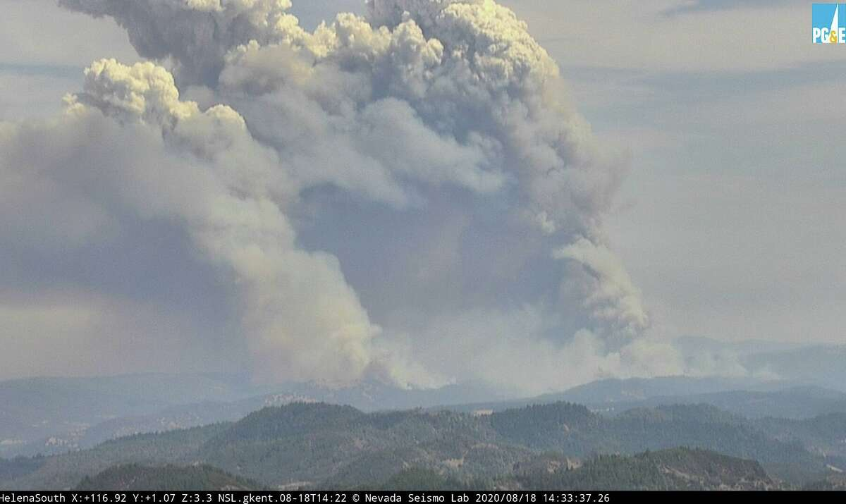 Multiple wildfires were burning in Napa and Sonoma countieson Aug. 18, 2020.