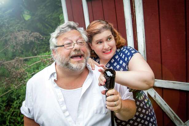 "Robin and Stacy-Lee Frome will appear in ""Say Goodnight, Stacy,"" outside the Jewish Community Center in Sherman, Aug. 29 at 7 p.m."