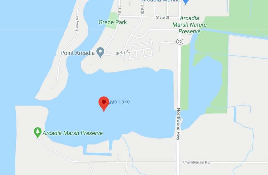 Police found an Arcadia man unresponsive in Arcadia Lake approximately 75 yards from shore. CPR attempts were unsuccessful. (Courtesy map/Google) Photo: Courtesy Map/Google