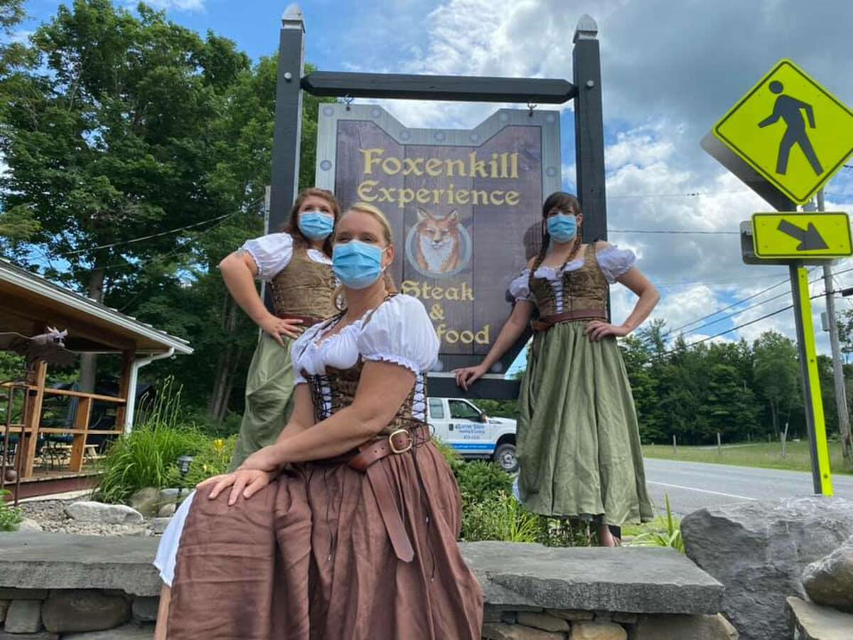 A tavern that has been open for a century in Berne re-emerged as a medieval-themed restaurant, called Foxenkill Experience Steak & Seafood, with period-costumed servers and a broad menu.