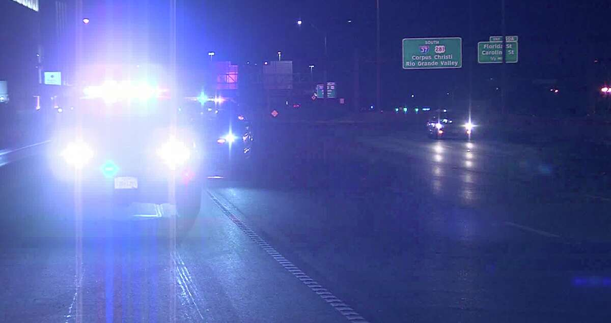 A woman was hospitalized Tuesday Aug. 19, 2020, after a driver found her with two broken legs on Interstate 37, according to the San Antonio Police Department.