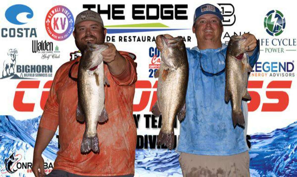 Daniel Streeter and Travis Signorin won the CONROEBASS Tuesday Night tournament with a stringer weight of 14.86 pounds.