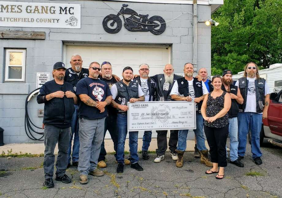 """The James Gang MotorcycleClubin Torrington's third annual Doghouse Musicfest raised $4,000 Aug. 1, a record fundraiser for the club. The money was donated to St. Jude Children's Hospital. """"Through the voluntary efforts of the James Gang Motorcycle Club, along with local musicians, we have done it again,"""" said member Don Wing. Photo: Don Wing / Contributed Photo"""