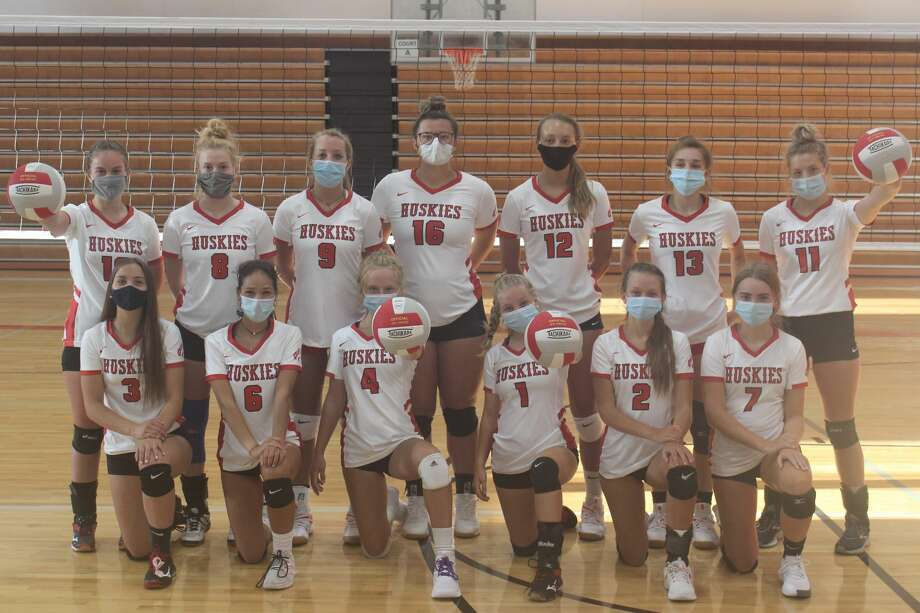 BENZIE CENTRAL VARSITY VOLLEYBALL: Pictured are (front row, left to right) Rylee Lane, Triniti Dalzell, Emma Brooks, Ryleigh Frisbie, Chelsey Lindman, Kara Johnson; (back row, left to right) Autumn Wallington, Alison Moore, Nona Schultz, Madison Evans, Ava Bechler, Lilly Leatherman, Alyssa Brouwer Photo: Robert Myers