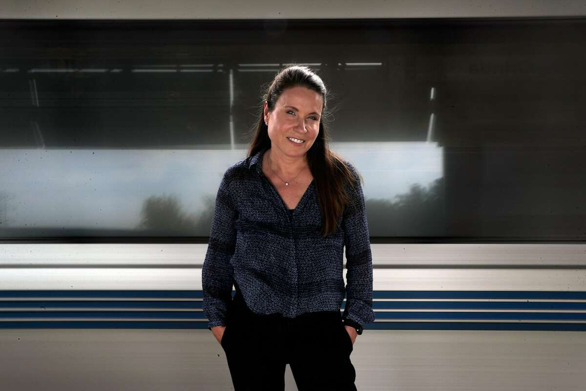 Dr. Susan Shaheen, professor of civil and environmental engineering, and director of at UC Berkeley, at the Orinda BART station in Orinda, Calif., on Monday, August 17, 2020. Dr. Shaheen also co-directs the Transportation Sustainability Research Center (TSRC) of the Institute of Transportation Studies at Berkeley.