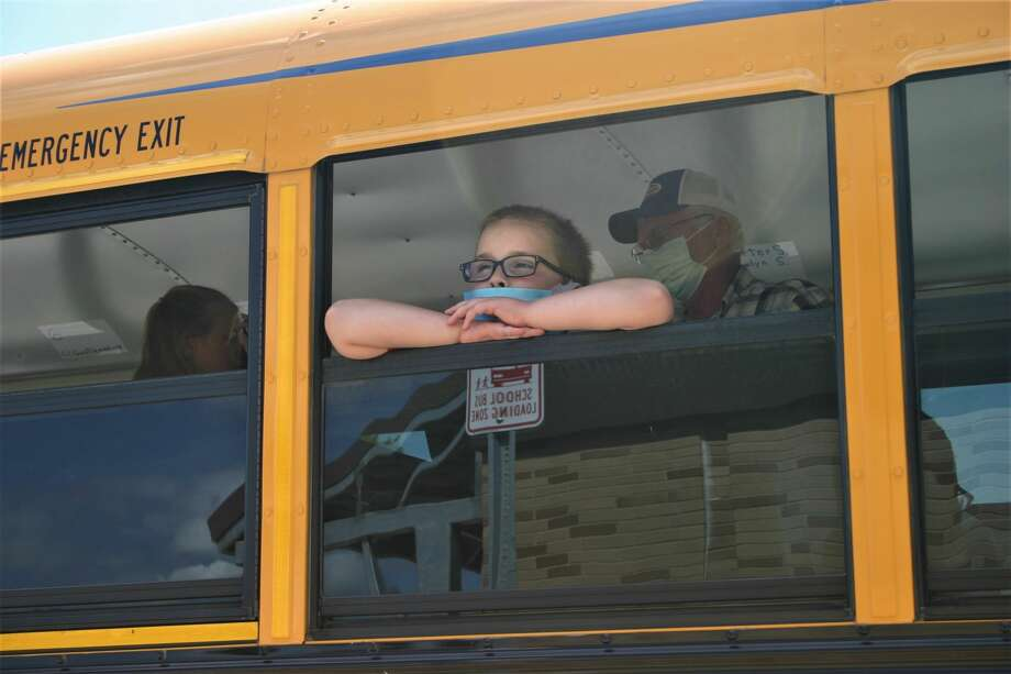 Beginning Monday, elementary-aged students will have to wear face masks in the classroom. Previously, they were only required to wear masks while not in their designated classrooms. Photo: Pioneer Photo/Cathie Crew