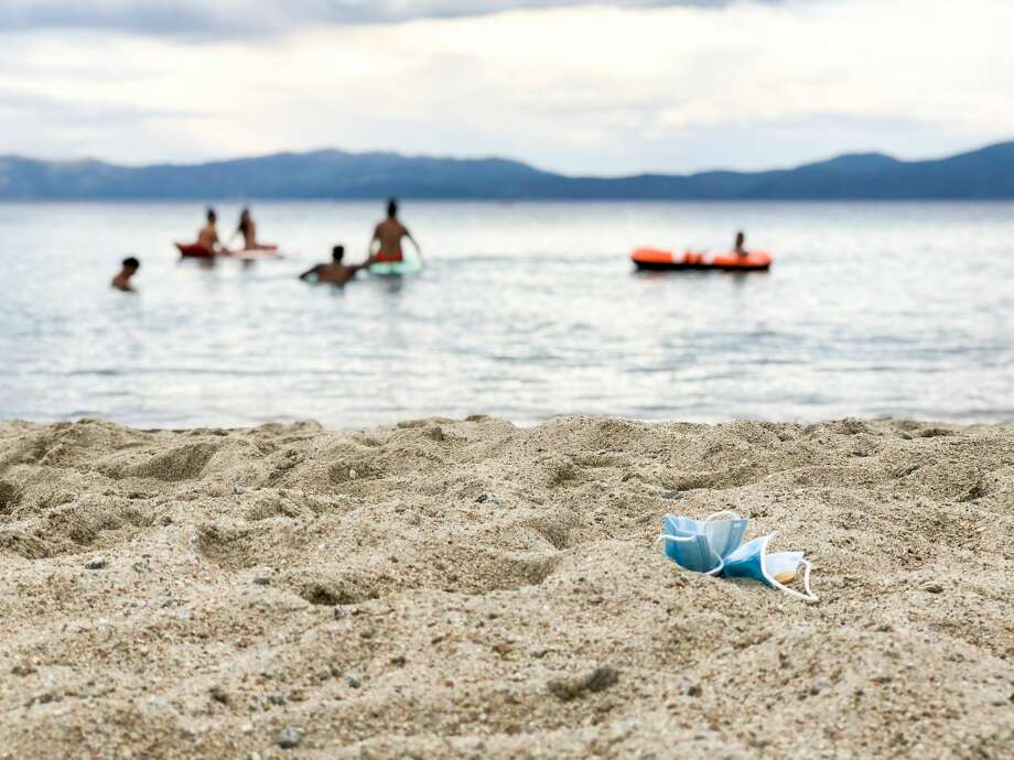 Tourists are flocking to Lake Tahoe despite the coronavirus pandemic and the wildfires. Photo: Julie Brown / SFGate