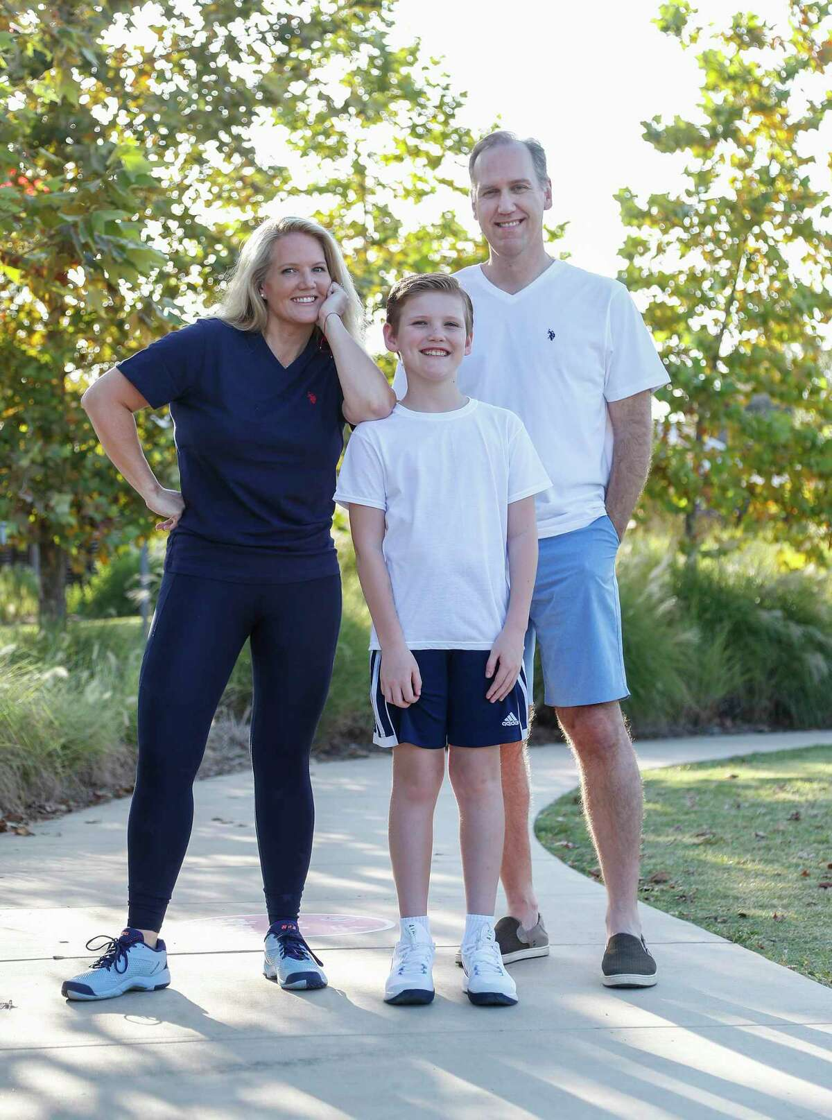 Brigitte Radulovich, husband Mark and son Nicholas have all adopted a more active lifestyle.