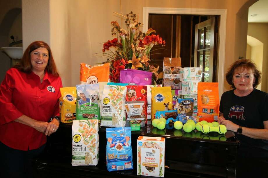 After reading about the need for more pet food donations, the North Shore Republican Women's group organized a pet food and donation drive for Meals on Wheels Montgomery County. Photo: Provided