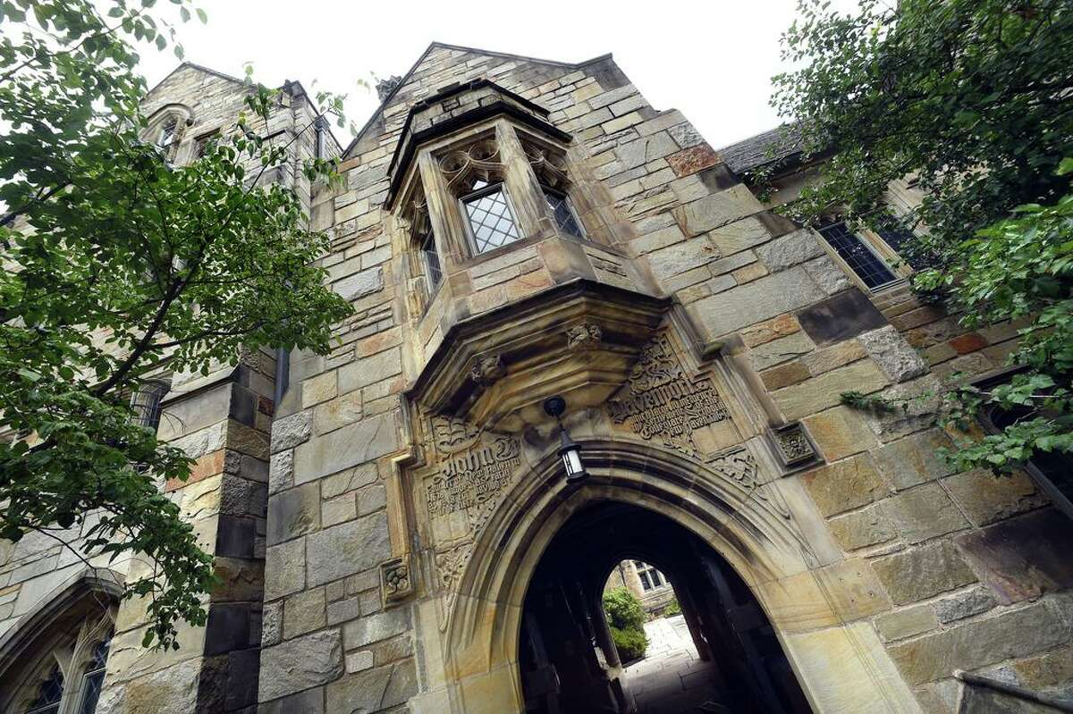 Yale University's John Davenport College in New Haven photographed on August 19, 2020.