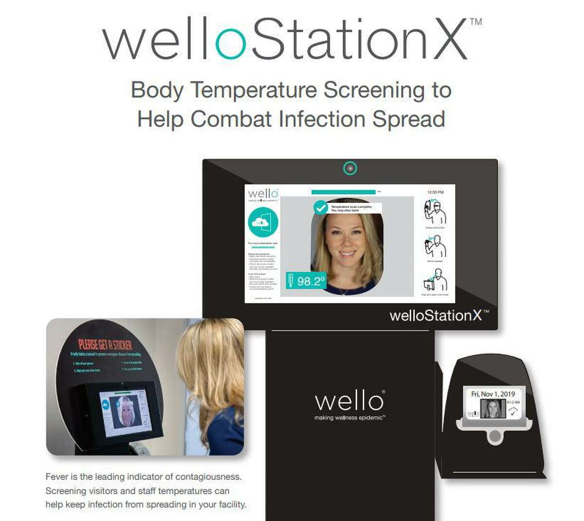 The Woodlands Township Board of Directors approved plans to buy stand-alone COVID-19 screening kiosks called the WellO StationX temperature screening kiosk. The township hopes to purchase eight of the devices for entrances to the township offices at a cost of $84,000. Each kiosk takes the temperature of a peron in a non-touch process and cost $10,500 per device.