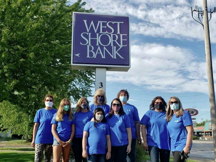 More than 60 West Shore Bank employees, including those in Manistee, volunteered over 142 hours in one week to make a difference in communities along West Michigan's lakeshore. (Courtesy photo)