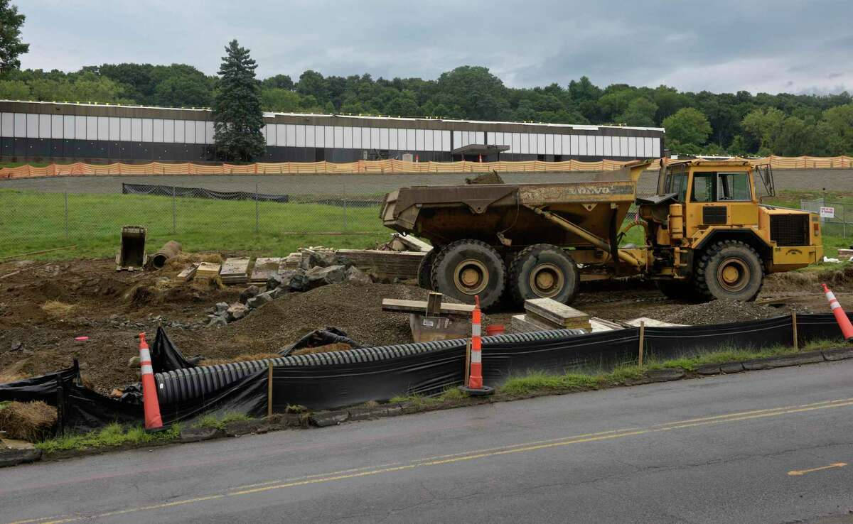 Former Scholastic distribution center, at 90 Old Sherman Turnpike, is being converted in to an Amazon shipment facility. Wednesday, August 19, 2020, in Danbury, Conn.