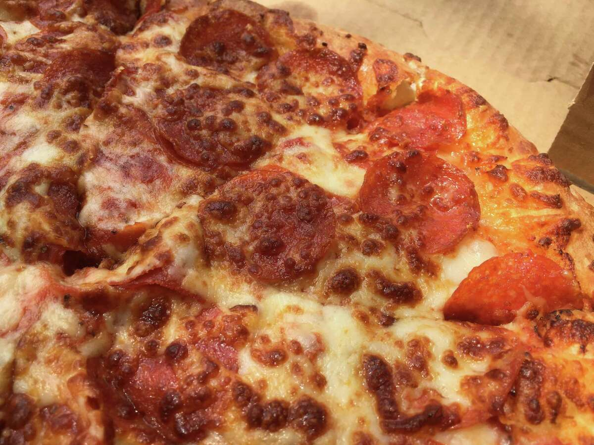 The pepperoni pizza at Pizza Classics on the specialty menu comes with two layers of meat and lots of cheese.