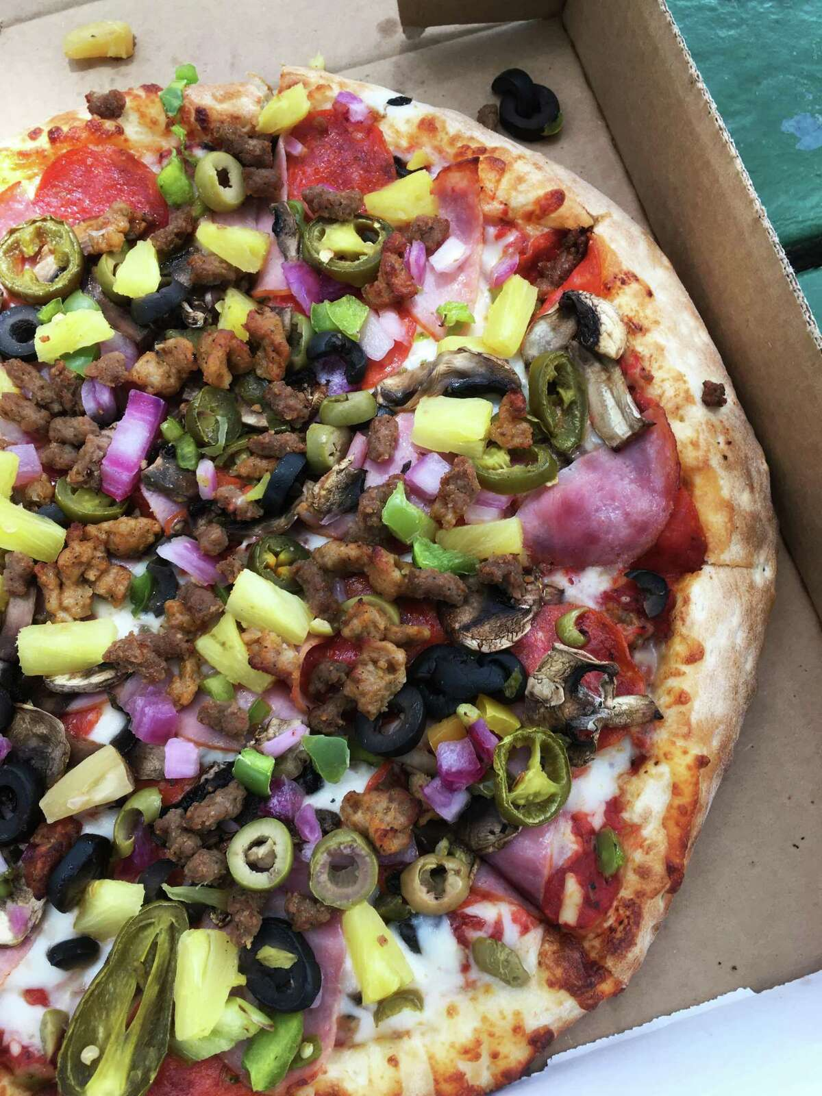 The Everything pizza at Pizza Classics has an enormous selection of toppings.
