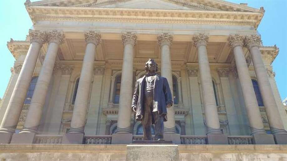 A statue of Stephen Douglas in Springfield will be removed from the Statehouse grounds because Douglas once owned slaves.