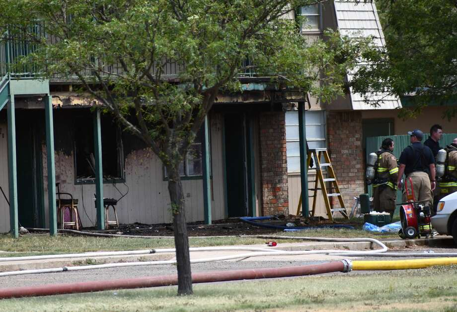 Plainview Fire Departments responds to Central Village Apartment fire on Wednesday afternoon. Photo: Nathan Giese/Plainview Herald