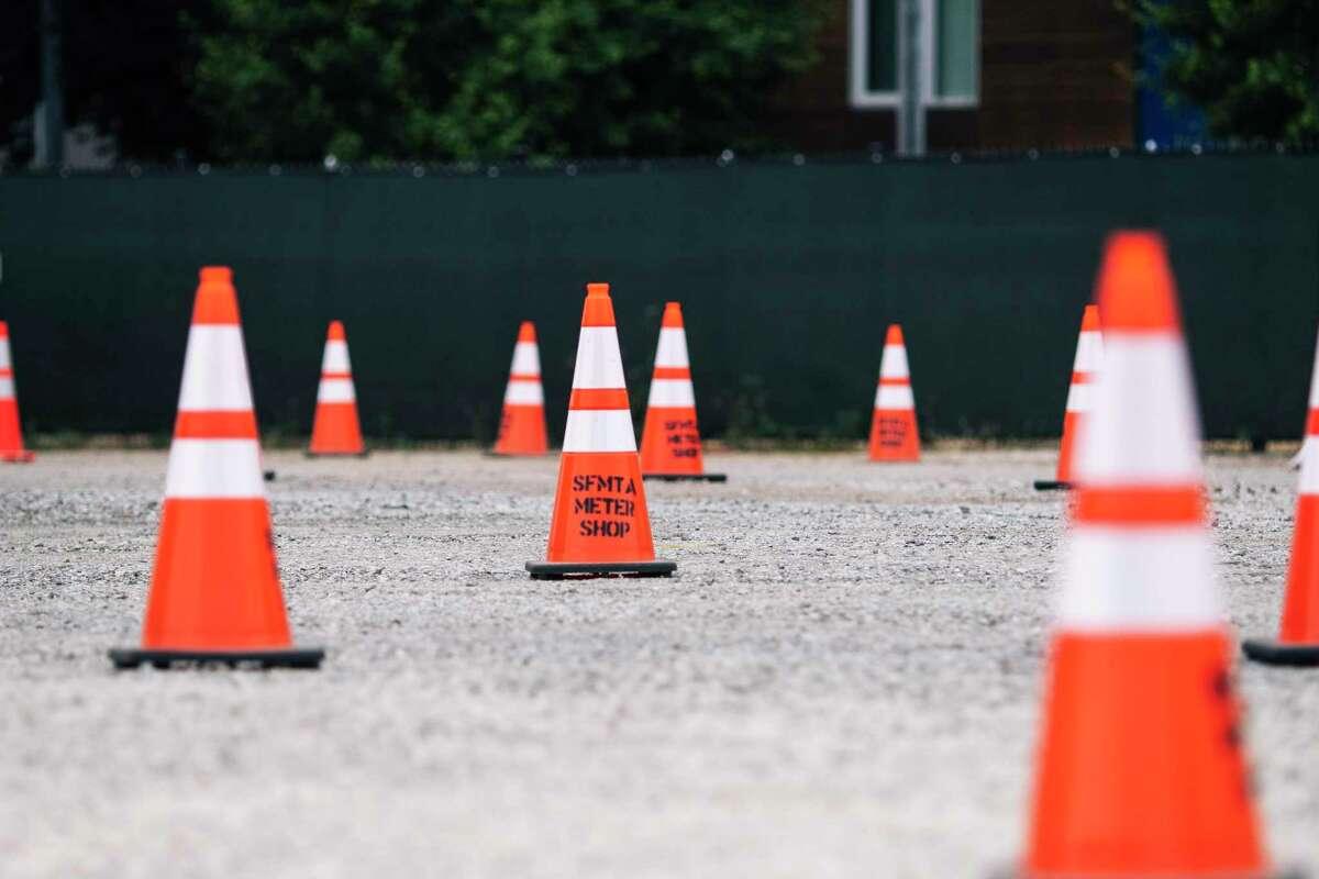 Orange traffic cones