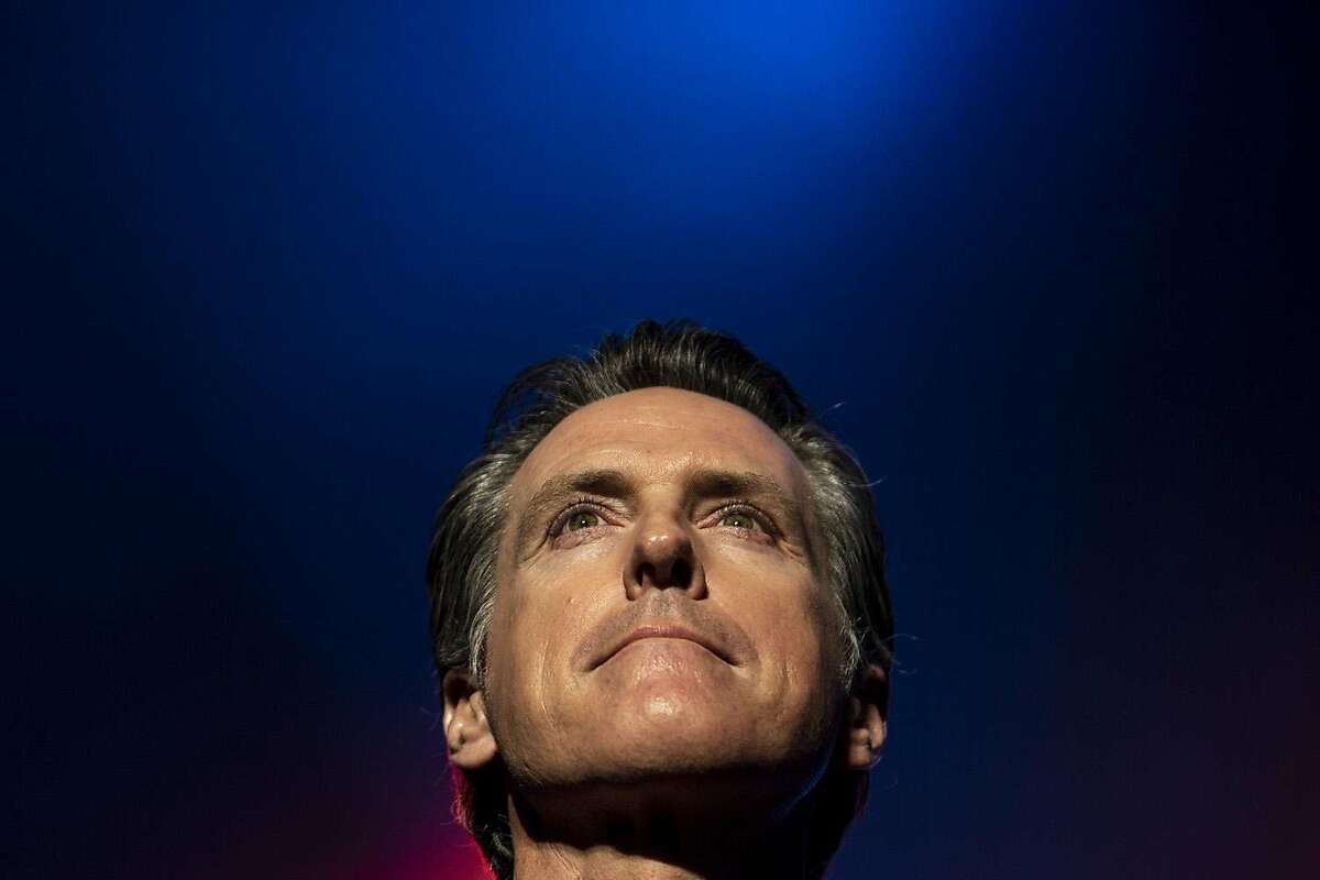 In this file photo, Governor-Elect Gavin Newsom takes to the stage at 'California Rises: A Concert to Help the Victims of California Wildfires' at the Golden 1 Arena in Sacramento a day before his inauguration. Gov. Newsom no longer looks like a promising future presidential prospect. (Kent Nishimura/The San Diego Union-Tribune/TNS)