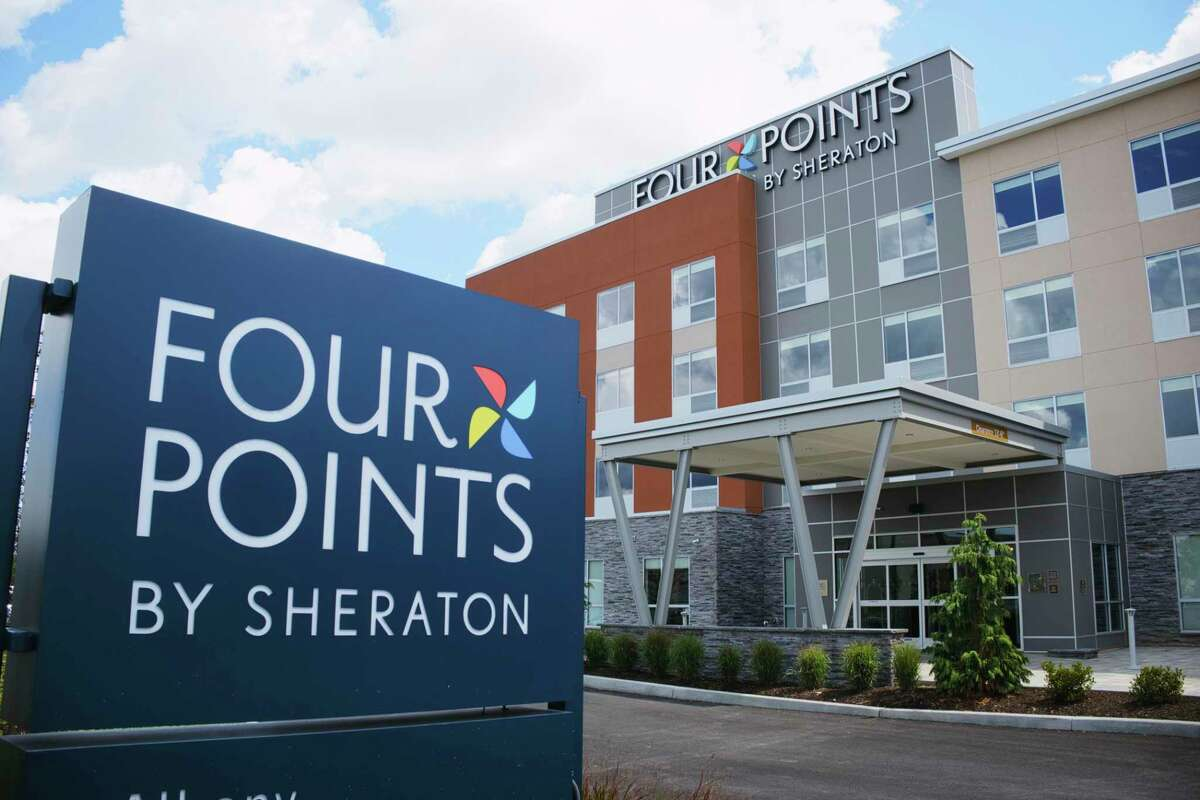 A view of the newly opened Four Points by Sheraton hotel on Wednesday, Aug. 19, 2020, in Albany, N.Y. (Paul Buckowski/Times Union)