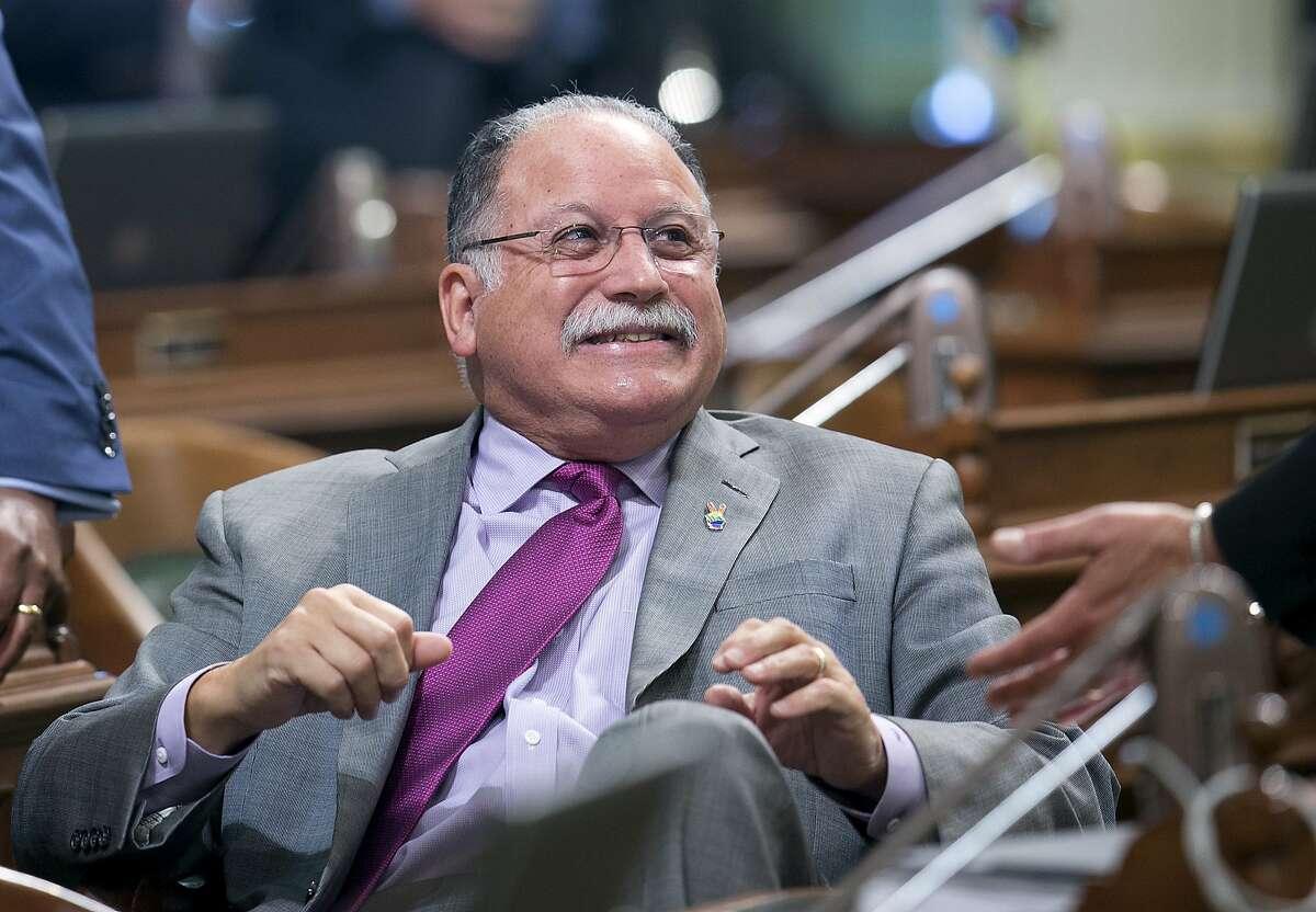 Assemblyman Jose Medina, D-Riverside, at the Capitol, Thursday, July 20, 2017, in Sacramento, Calif. (AP Photo/Rich Pedroncelli)