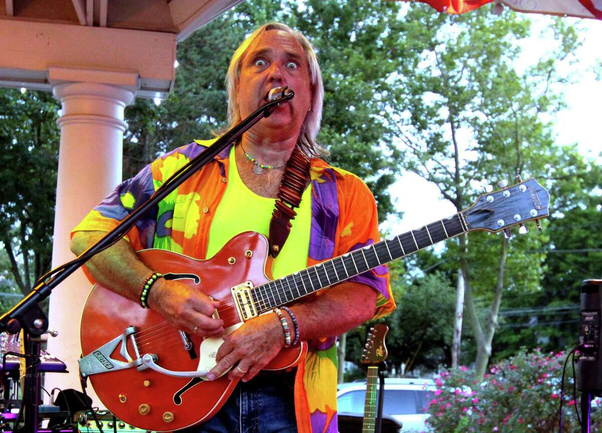 Mark Crofutt with The Void entertains the crowd at Paradise Green during the 2020 Summer Concert Series in Stratford, Conn., on Tuesday Aug. 18, 2020.