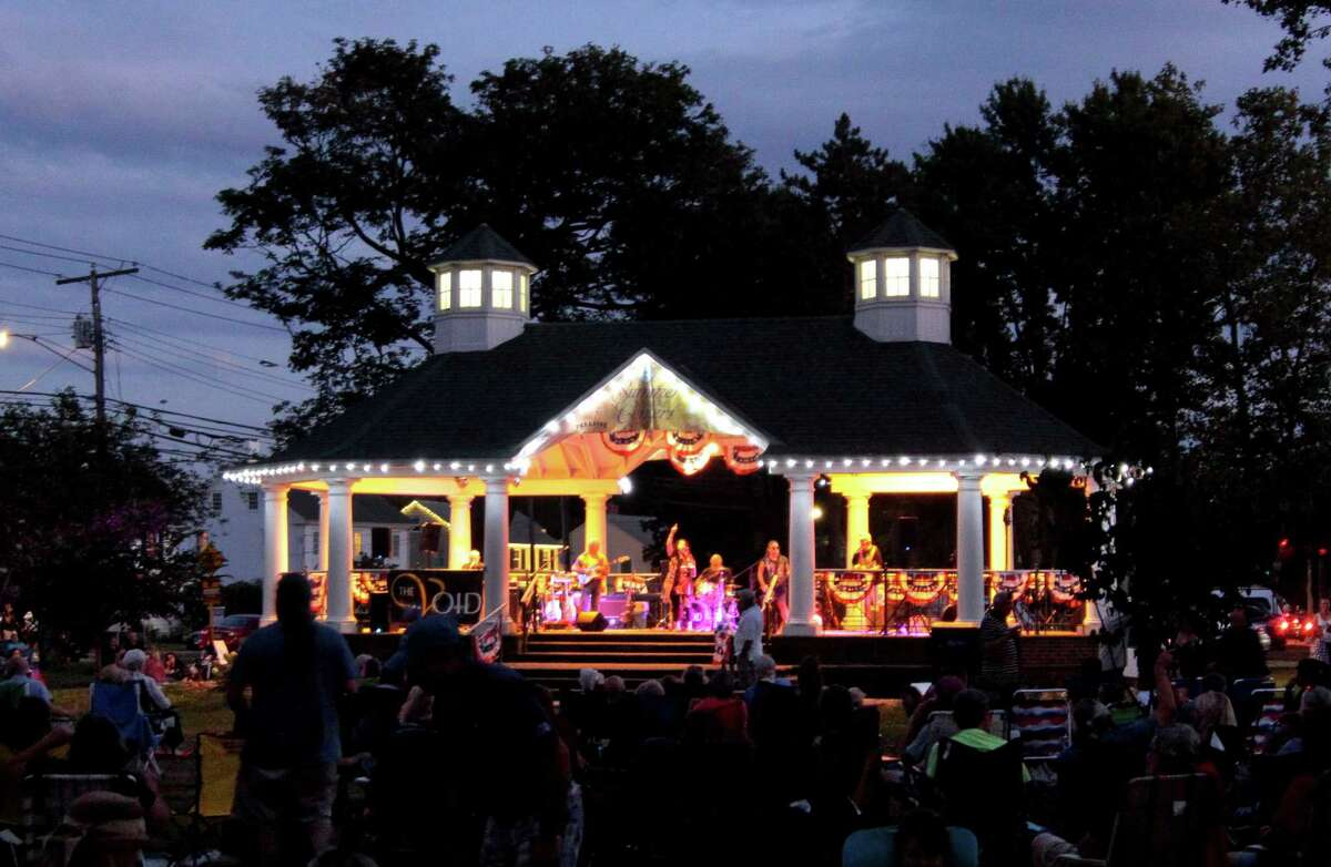 The Void entertains the crowd at Paradise Green during the 2020 Summer Concert Series in Stratford, Conn., on Tuesday Aug. 18, 2020.