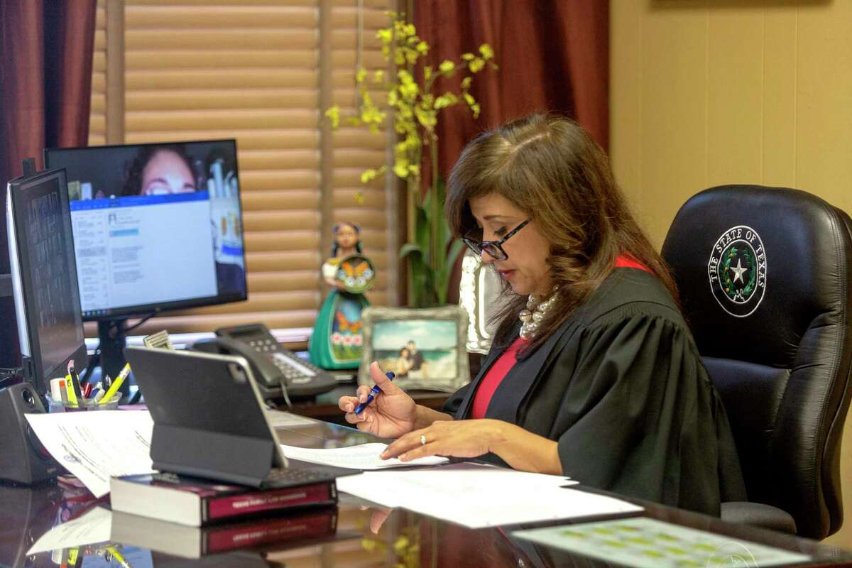 Judge Arteaga overheard hours of witness testimony during a hearing Monday to grant an injunction upholding San Antonio and Bexar County's mask mandates.