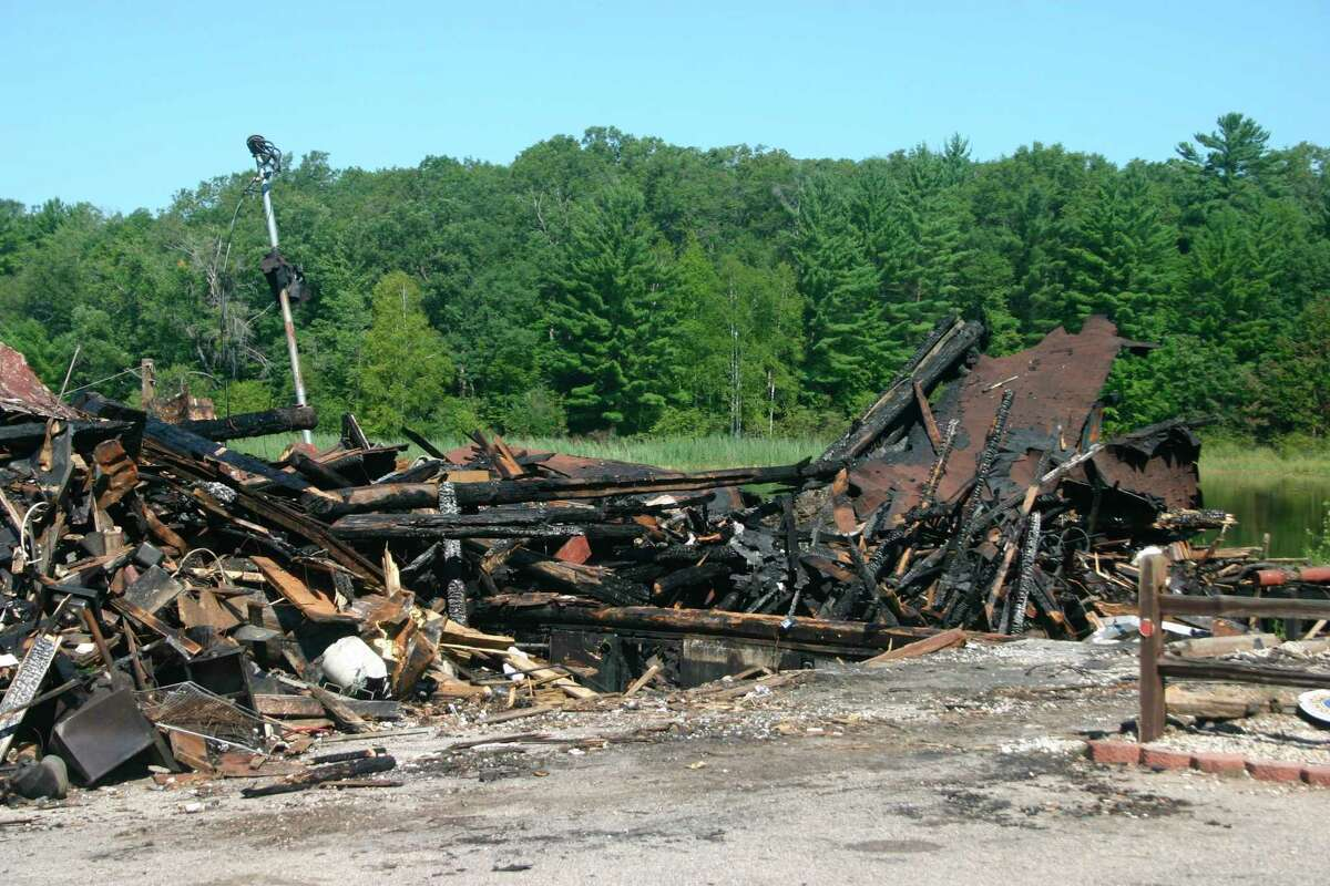 The Government Lake Lodge was deemed a total loss after burning to the ground in a fire Wednesday, Aug. 12. No one was injured in the fire, and the cause remains under investigation. (Star photo/Cathie Crew)