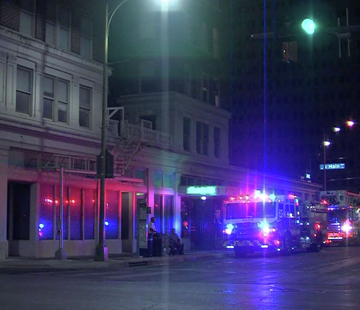 A water leak at a downtown apartment complex forced some residents to evacuate late Wednesday Aug. 19, 2020, according to the San Antonio Fire Department.