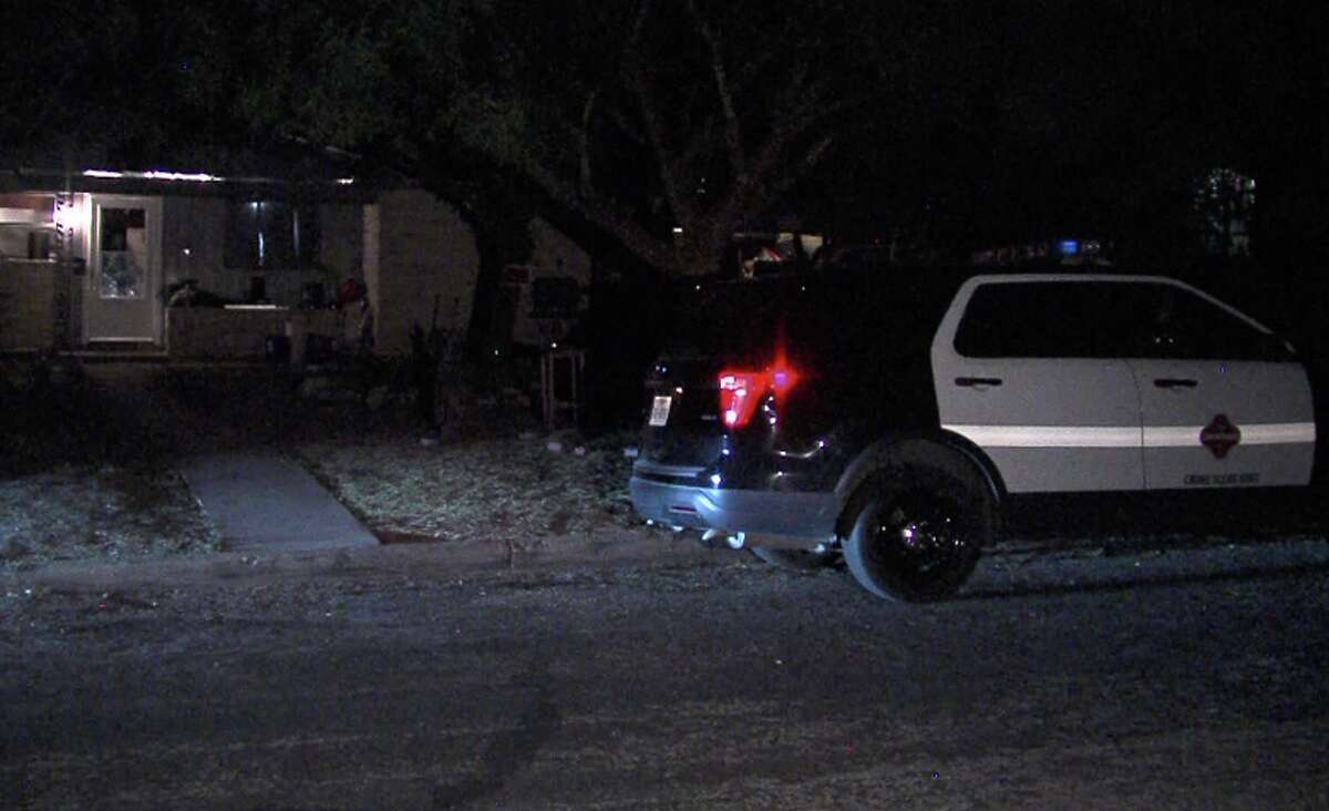 San Antonio police are investigating a home after finding a man with a gunshot wound in the leg and a stab wound in the foot in a vehicle on Wednesday Aug. 29, 2020, on the city's North Side.