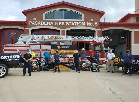 Northern Tool + Equipment donated cleaning and safety equipment to the volunteer Pasadena Fire Department.