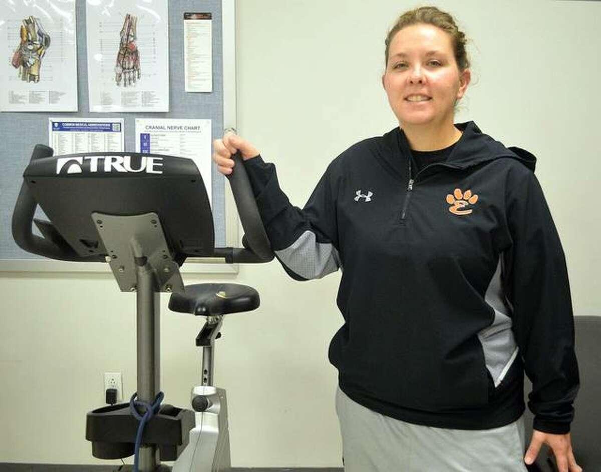 Katie Hamilton is the head athletic trainer at Edwardsville High School.