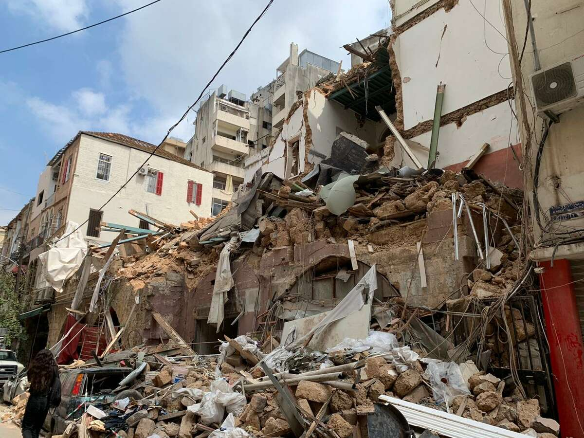 After 2,750 tons of ammonium nitrate exploded on Aug. 4, 2020, buildings in the city of Beirut have been gutted. Lebanese people say they have never seen so much damage in the city.