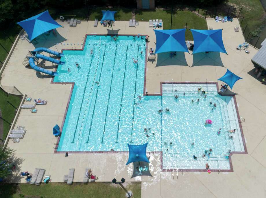 Three of the pools — Wendtwoods, Bear Branch and Sawmill — will be open only on Saturday and Sunday, with hours from noon until 6 p.m. each day. Residents wishing to use the pools must have a photographic ID and pay the day rate of $5. Non-residents must also have a photographic ID and pay a $10 day rate. The Alden Bridge pool will have the most access, with noon to 6 p.m.hours of operation Tuesday through Sunday each week until Labor Day. The pool will be closed on Monday for cleaning and other routine maintenance. Photo: Jason Fochtman/The Courier, Houston Chronicle / Jason Fochtman/The Courier / 2020 © Houston Chronicle