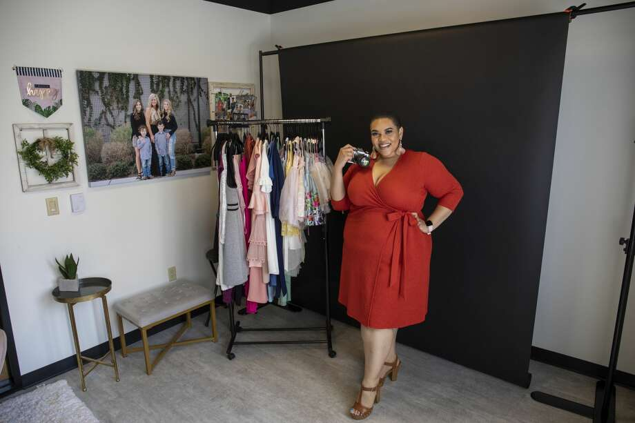 Jaslyn Kwayu poses for a photo in her studio on June 29, 2020 at Second Story Coworking. Photo: Jacy Lewis/Reporter-Telegram / MRT
