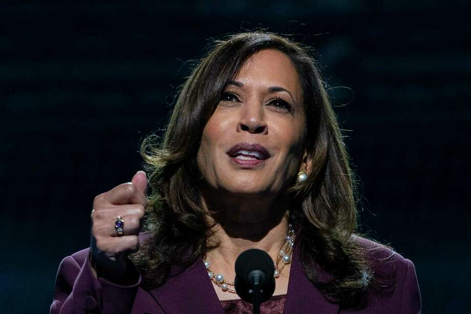 Democratic vice presidential candidate Sen. Kamala Harris, D-Calif., speaks during the third day of the Democratic National Convention, Aug. 19, at the Chase Center in Wilmington, Del. Photo: Carolyn Kaster / Associated Press / Copyright 2020 The Associated Press. All rights reserved