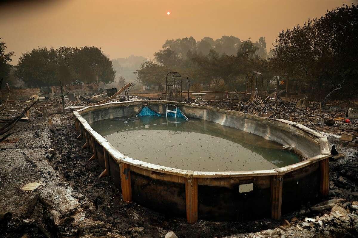 Burned homesite on Sierra Vista Drive during LNU Lightning Complex Fire in Vacaville , Calif., on Thursday, August 20, 2020.