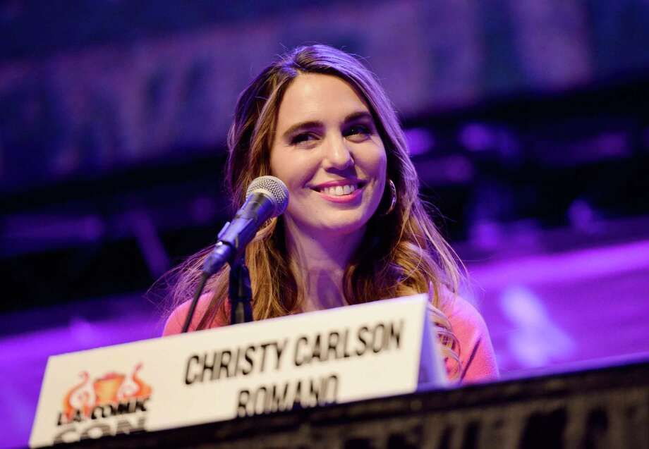 "Christy Carlson Romano during a ""Kim Possible"" panel at 2019 Los Angeles Comic-Con. Photo: Chelsea Guglielmino / Getty Images / 2019 Chelsea Guglielmino"