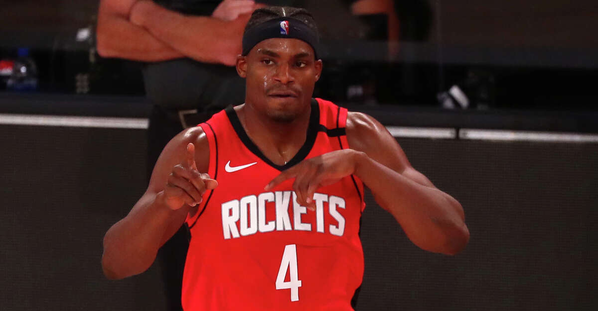 This is the last we saw of the Rockets' Danuel House in the NBA Bubble.
