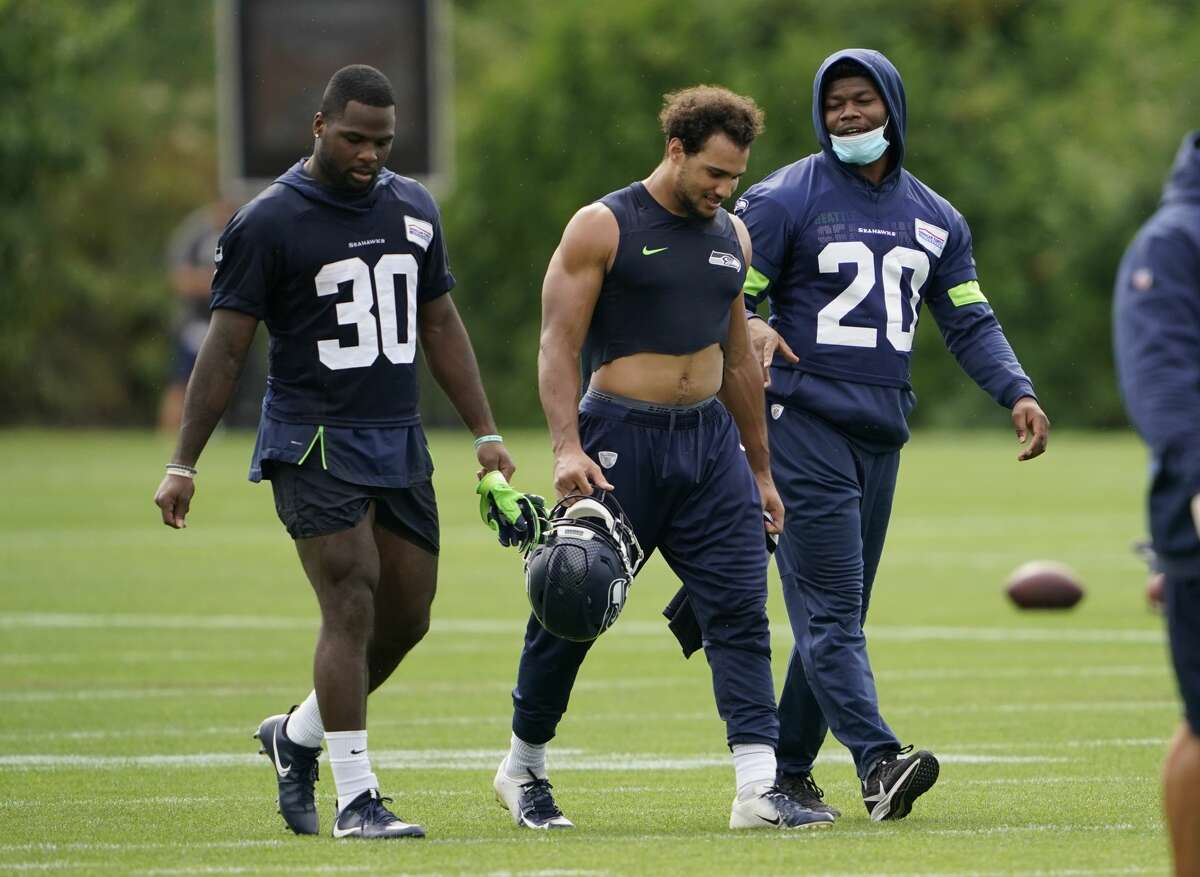 Keep (5): Chris Carson, Carlos Hyde, DeeJay Dallas, Travis Homer, Nick Bellore (FB) PUP (1): Rashaad Penny Injured Reserve (1): Patrick Carr No changes from the last projection. After having depth issues at running back to end last season, the Seahawks are poised to have more stability at the position in 2020.  At the top of the group is Chris Carson, who told reporters Tuesday that he's
