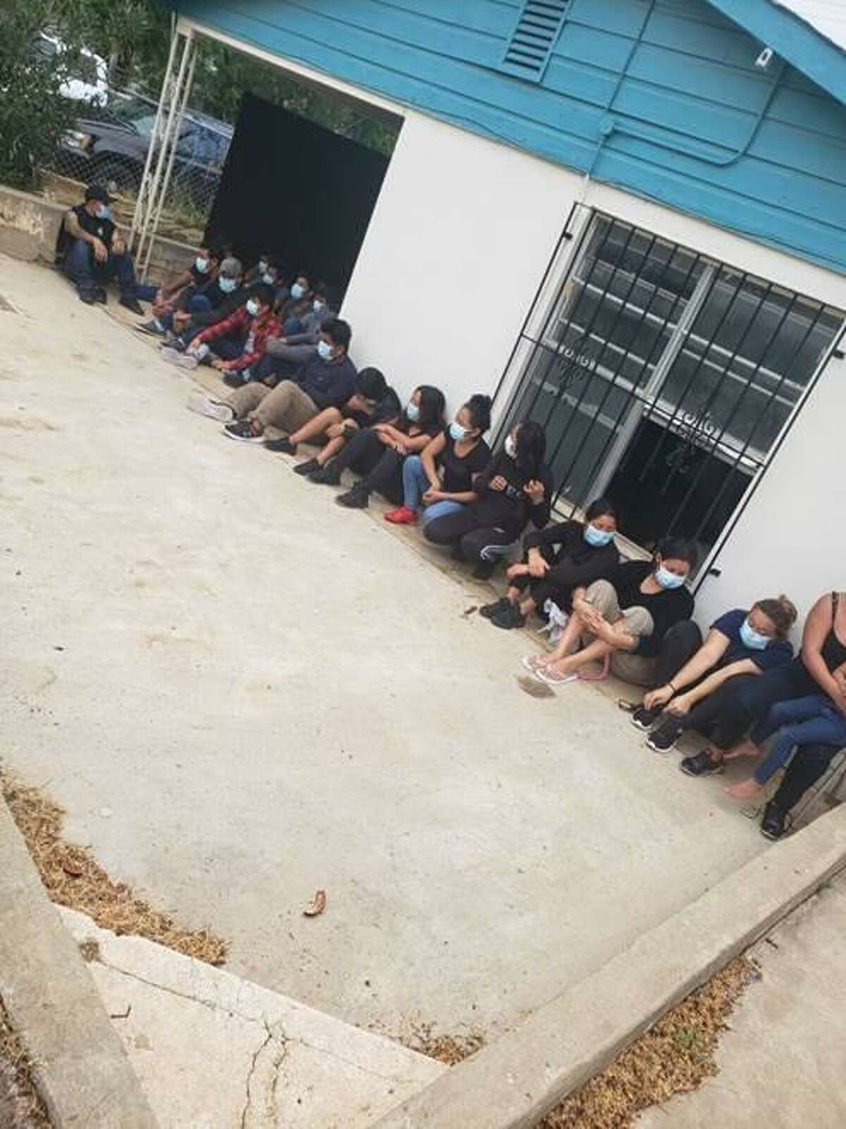 Authorities said they discovered this group of immigrants who had crossed the border illegally following surveillance at a home in the 1100 block of East Lyon Street.